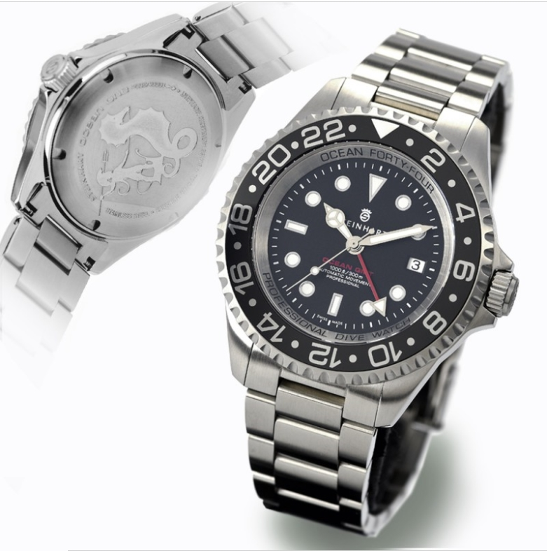 Ocean Forty-Four GMT Black Keramik Sans_t36