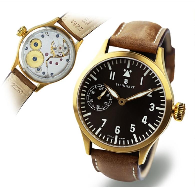 Nav B-Uhr 44 Handaufzug, Bronze Sans_t48