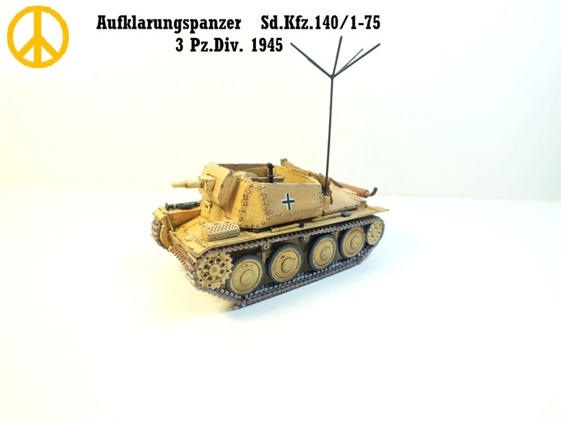 Разведывательный танк Sd.Kfz.140/1-75 на базе Pz.38 (t) R111