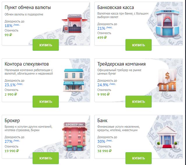 Russia-Invest экономическая игра ПОДРОБНЕЕ. Russia10
