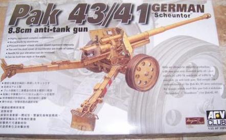 German 8.8cm Pak 43/41 Anti-tank Gun,1\35,AFV Club _7210