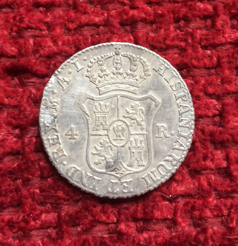4 Reales 1812. Jose Napoleón. Madrid. A.I. Image132