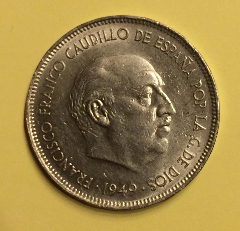 5 pesetas 1949 *50. Grado de conservación Image42