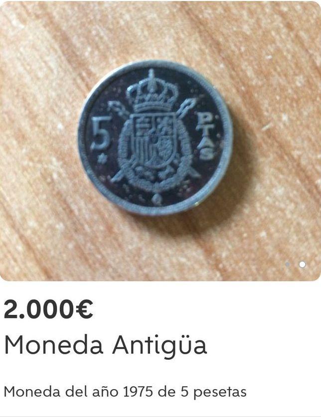 Curioso precio de venta en una moneda Dttlj910