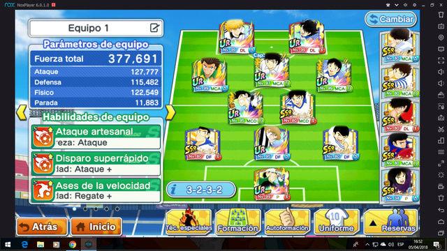 Captain Tsubasa: Tatakae Dream Team (Juego para móviles) - Página 2 Team110