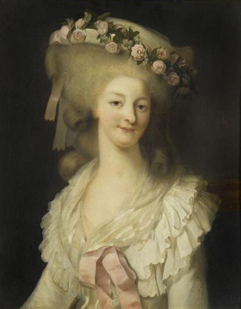 Grand portrait de Marie-Antoinette ou de la princesse de Lamballe Rioult10