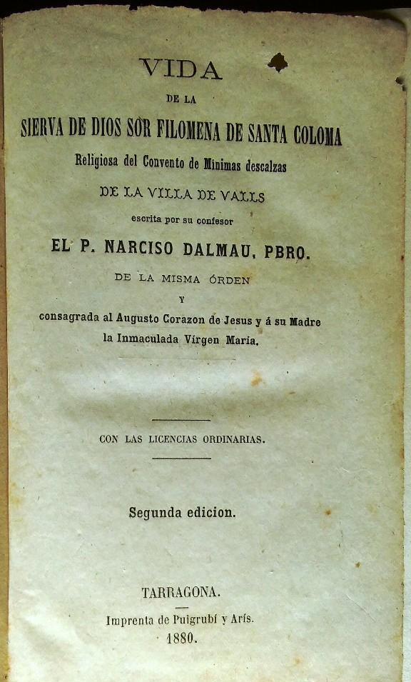 Medalla de Sor Filomena de Sª Coloma dei Minimi. Siglo XIX. (R.M.) 12803411