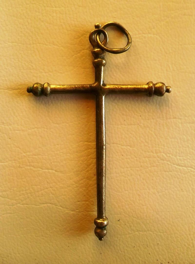 Cruz de plata de sección cilíndrica, S. XVII Creu_p10