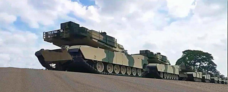 M1A1 SA ABRAMS Marocains / Moroccan M1A1 SA ABRAMS Receiv10