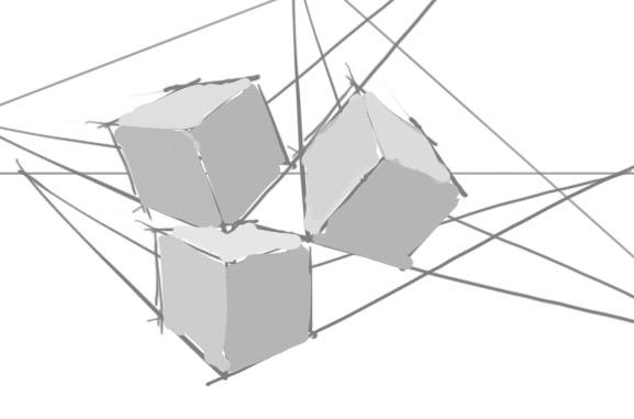 Wip et croquis de Steeve_Endo. Cubes10