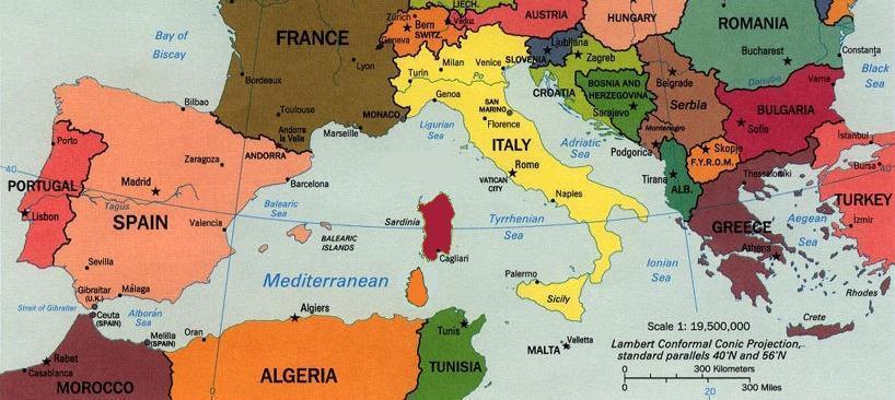 Is Sardinia in Europe or Africa? Sardin12