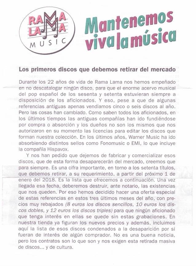 Putada para el sello discográfico Rama Lama y para los clientes o el Hijoputismo de las Multinacionales como la Warner Music. Indust11