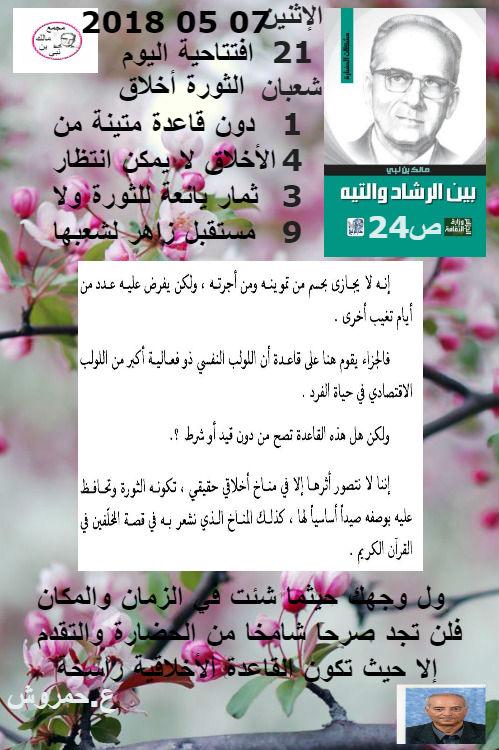 قراءة في كتاب بين الرشاد والتيه لمالك بن نبي وتعليق عبد المالك حمروش (05)  24_ou_10