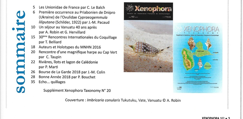 2018 - 04 / XENOPHORA N°162 et TAXONOMY N°20 Xyno_110