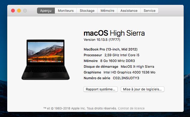Mise a jour macOS High Sierra 10.13.5 (17F77) Ae_pro12