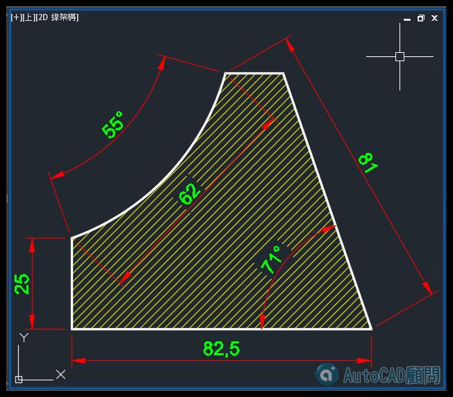 AutoCAD教學 幾何圖形習題04 0410