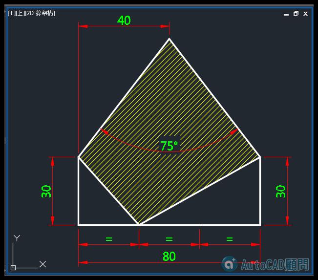 AutoCAD教學 幾何圖形習題06 0610