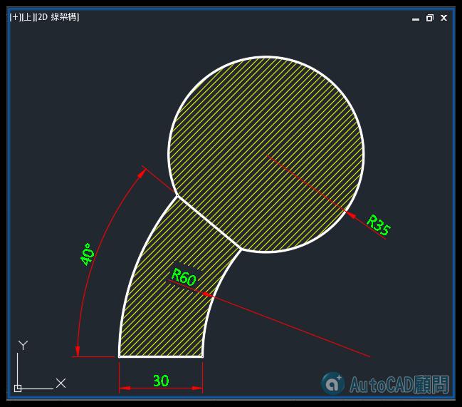 AutoCAD教學 幾何圖形習題08 0810