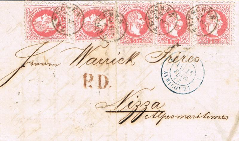 Freimarken-Ausgabe 1867 : Kopfbildnis Kaiser Franz Joseph I - Seite 19 B11