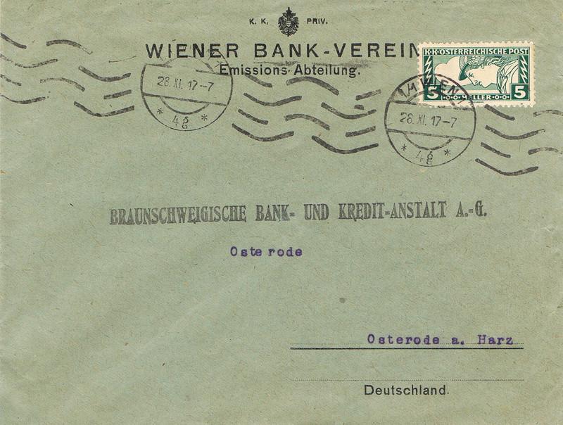 Briefe / Poststücke österreichischer Banken - Seite 4 Bv10