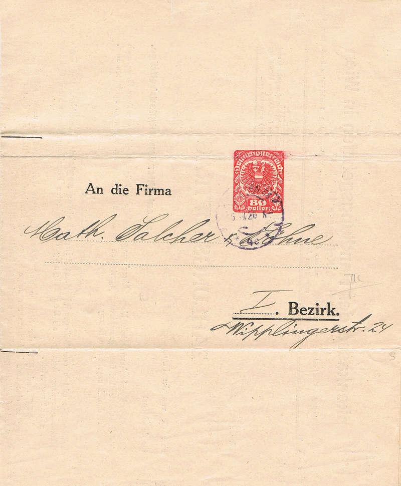Inflation in Österreich - Belege - 1918 bis 1925 - Seite 16 Fbh10