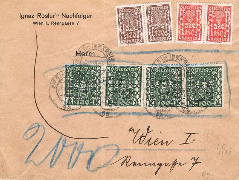 Inflation in Österreich - Belege - 1918 bis 1925 - Seite 15 Iu10