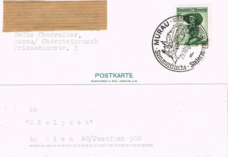 Trachtenserien ANK 887 - 923 und 1052 - 1072 Belege - Seite 11 M10