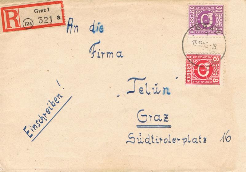 Posthornzeichnung  -  ANK 697-713  -  Belege - Seite 3 P10
