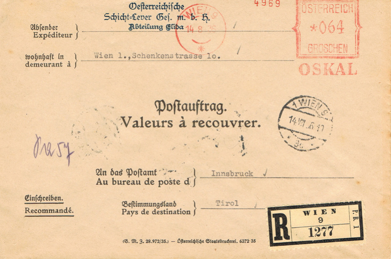 Postauftragsbriefe Pa10