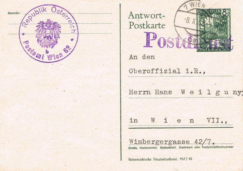 Postdienst ungültige Postkarte Pd10