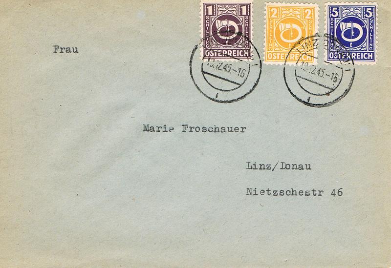 Posthornzeichnung  -  ANK 697-713  -  Belege - Seite 3 Ph10