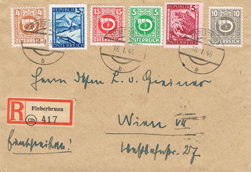Posthornzeichnung  -  ANK 697-713  -  Belege - Seite 4 Ph12