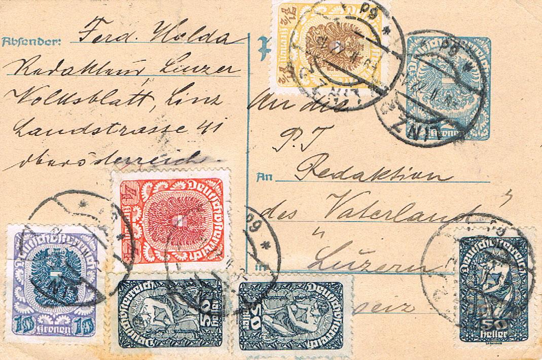 Inflation in Österreich - Belege - 1918 bis 1925 - Seite 16 Pk14