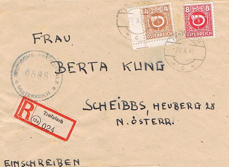 Posthornzeichnung  -  ANK 697-713  -  Belege - Seite 4 Posth10