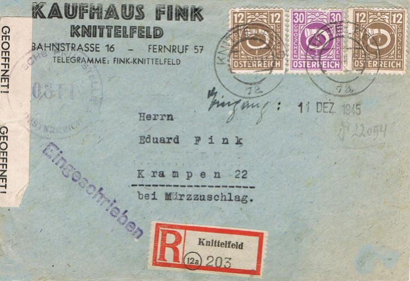 Posthornzeichnung  -  ANK 697-713  -  Belege - Seite 4 Psth10