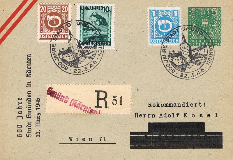 Posthornzeichnung  -  ANK 697-713  -  Belege - Seite 3 Pv10