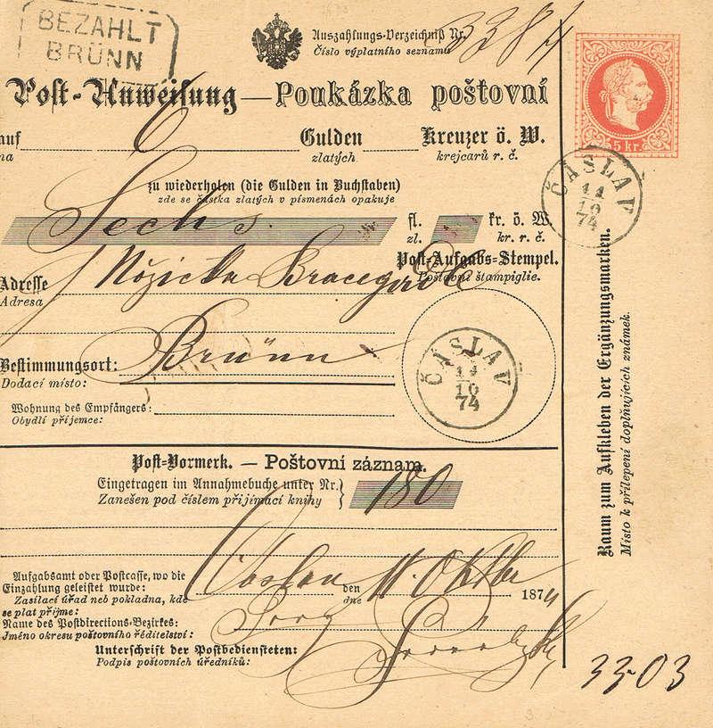 Postanweisung Pw11