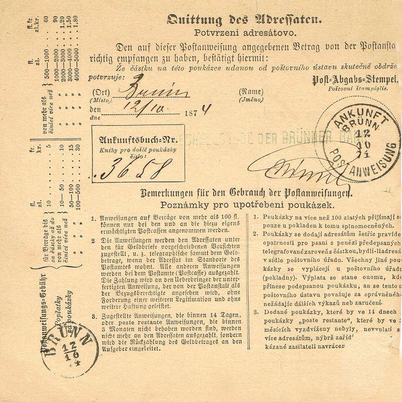 Postanweisung Pwh11