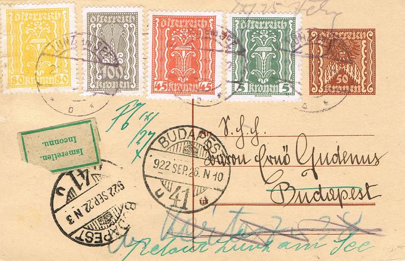 Inflation in Österreich - Belege - 1918 bis 1925 - Seite 15 U12