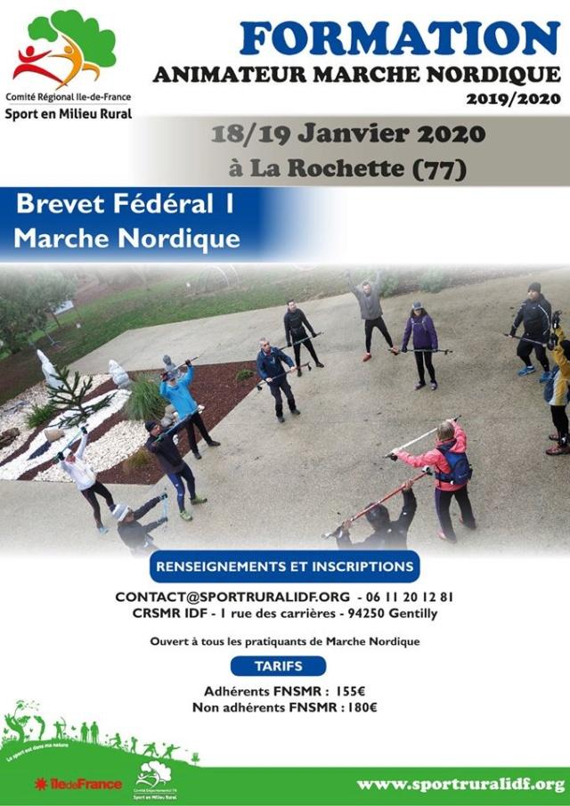 Formation Animateur Marche Nordique  (77) 74313010