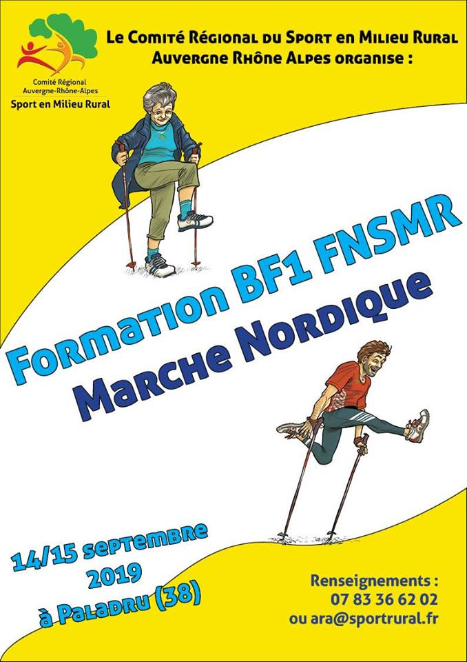 Formation BF1 FNSMR Marche Nordique (38) Bf110