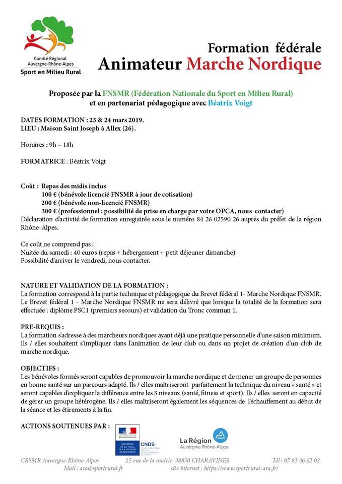 animateur - Formation fédérale Animateur Marche Nordique (26) Fnsmr211
