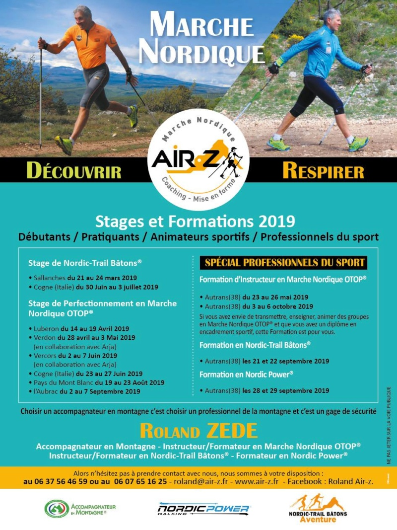 NORDIQUE - Roland Air-z : Stages Marche Nordique 2019 Roland11