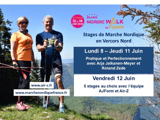 Stages Euronordicwalk Vercors 2020 avec Arja et Roland Stage10