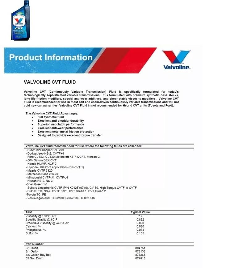 Óleo para o câmbio CVT B17 Cvt13