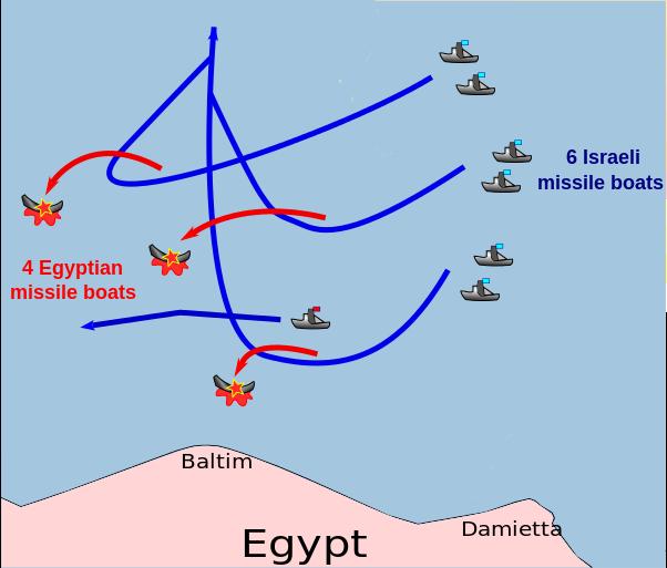 وجهة نظر اسرائيليه : سلاح البحرية الاسرائيليه حقق انتصارا 0:40 في حرب أكتوبر 602px-10