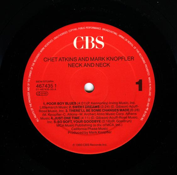 Chet Atkins And Mark Knopfler - Neck And Neck 324
