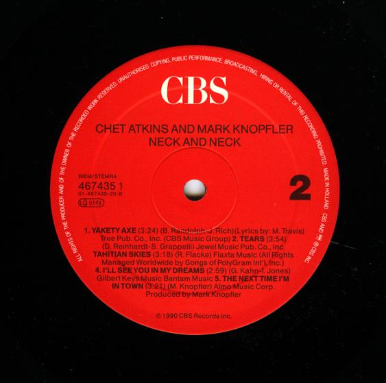 Chet Atkins And Mark Knopfler - Neck And Neck 418