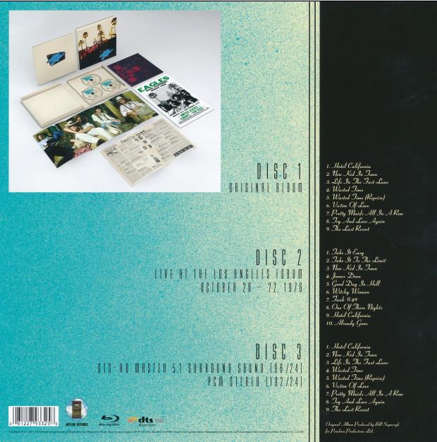 40 Aniversario de Hotel California: reedición en 1-2 discos y Blu-ray. 510
