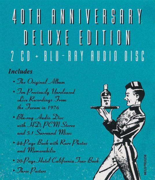 40 Aniversario de Hotel California: reedición en 1-2 discos y Blu-ray. 611